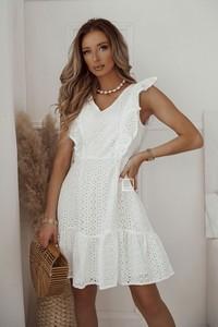 Sukienka Shopaholics Dream z krótkim rękawem z dekoltem w kształcie litery v