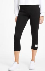 Czarne legginsy Puma w sportowym stylu z bawełny