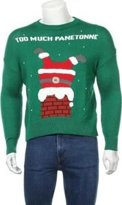 Sweter Oysho z okrągłym dekoltem w młodzieżowym stylu