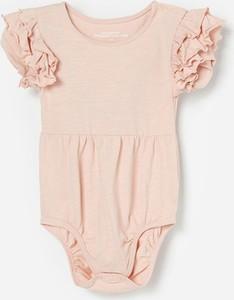 Różowe body niemowlęce Reserved z bawełny dla dziewczynek
