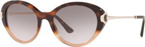 Fioletowe okulary damskie Bvlgari