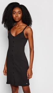Sukienka Tommy Jeans w stylu casual z dekoltem w kształcie litery v