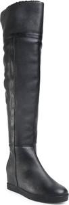 Czarne kozaki Calvin Klein na zamek