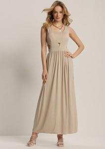 Sukienka Renee maxi bez rękawów z dekoltem w kształcie litery v