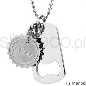 Silverado oryginalny naszyjnik z zawieszką w kształcie otwieracza do butelek i kapsla 77-wa241