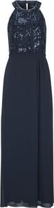Niebieska sukienka S.Oliver Black Label z dekoltem halter prosta maxi