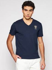 Niebieski t-shirt Blauer Usa