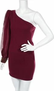 Czerwona sukienka Rare mini asymetryczna