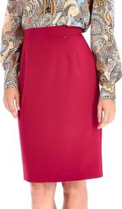 Czerwona spódnica L'AF z tkaniny midi