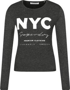 Bluzka Superdry w stylu casual z okrągłym dekoltem