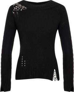 Czarny sweter My Twin w stylu casual