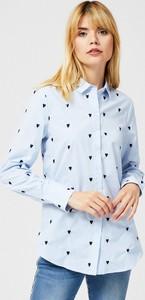 Niebieska koszula Moodo z długim rękawem