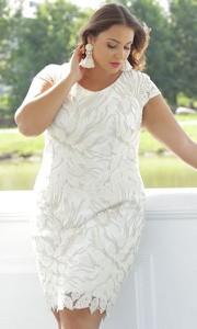 Sukienka Dorota mini z okrągłym dekoltem z tkaniny