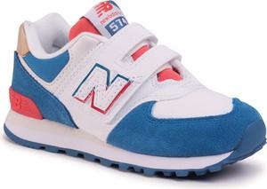 Buty sportowe dziecięce New Balance na rzepy z zamszu