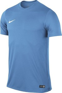 Niebieska koszulka dziecięca Nike z krótkim rękawem z dżerseju