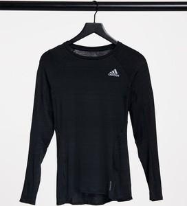 Bluzka Adidas Performance w sportowym stylu z długim rękawem z okrągłym dekoltem