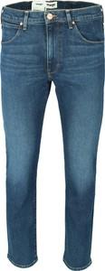 Niebieskie jeansy Wrangler w stylu casual z jeansu