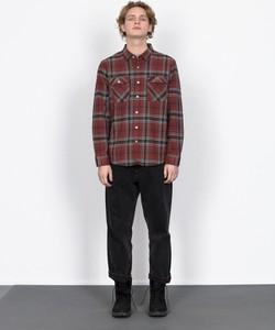 Koszula Brixton z bawełny w stylu casual z długim rękawem