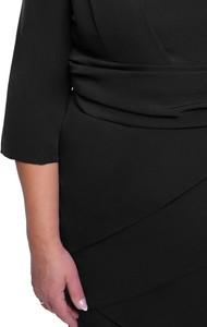 Czarna sukienka modneduzerozmiary.pl dla puszystych