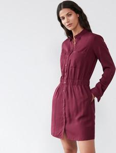 Czerwona sukienka Sinsay mini szmizjerka