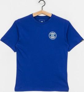 Niebieska koszulka dziecięca Vans z krótkim rękawem