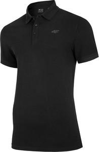 Czarna koszulka polo 4F