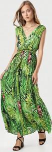 Zielona sukienka born2be maxi