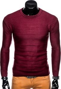 Czerwony sweter inny w stylu casual