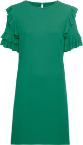 Sukienka bonprix BODYFLIRT z dżerseju midi z krótkim rękawem