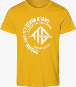 Żółty t-shirt Tom Tailor Denim w młodzieżowym stylu
