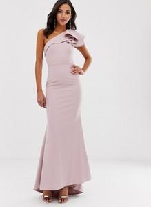 Różowa sukienka Jarlo bez rękawów maxi