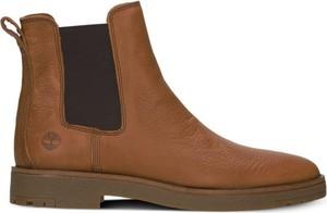 Buty zimowe Timberland w sportowym stylu ze skóry