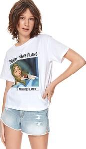 T-shirt Top Secret z bawełny w młodzieżowym stylu z krótkim rękawem