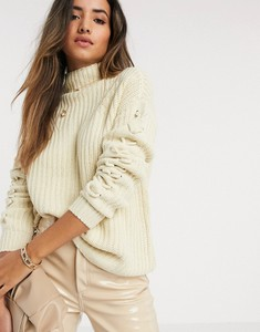 Sweter Vero Moda ze sztruksu
