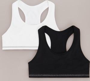 Reserved - 2 pack sportowych topów z mikrofibry - Biały