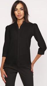 Czarna koszula Lanti z długim rękawem
