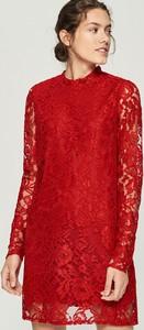 Sukienka Sinsay z golfem mini z długim rękawem