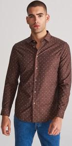 Koszula Reserved z nadrukiem z długim rękawem