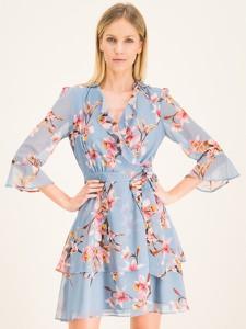 Niebieska sukienka Marella mini z długim rękawem w stylu casual