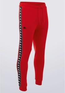 Czerwone spodnie sportowe Kappa w sportowym stylu z dresówki