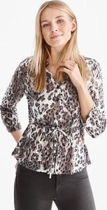 Brązowa bluzka CANDA z bawełny