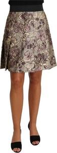 Spódnica Dolce & Gabbana mini z jedwabiu