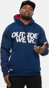 Niebieska bluza Outsidewear z żakardu