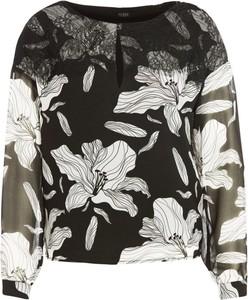 Bluzka Guess w stylu casual z okrągłym dekoltem z długim rękawem