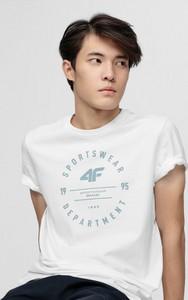 T-shirt 4F z krótkim rękawem w młodzieżowym stylu z dzianiny