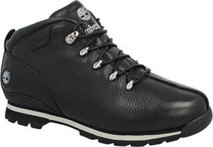Czarne buty zimowe Timberland ze skóry