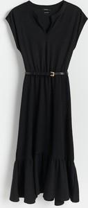 Czarna sukienka Reserved bez rękawów
