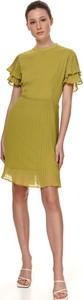 Zielona sukienka Top Secret z okrągłym dekoltem mini w stylu casual