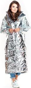 Srebrny płaszcz Awama z tkaniny