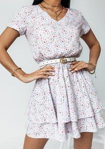 Sukienka Latika mini w stylu casual z dekoltem w kształcie litery v